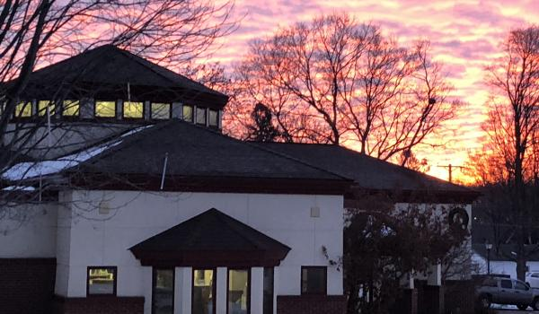 Sunrise at the library